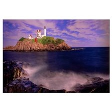 Lighthouse at a coast, Nubble Lighthouse, Cape Ned