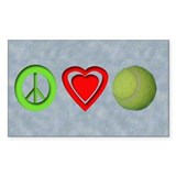 Peace, Love, Tennis Oval Decal