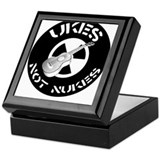 Ukes Not Nukes Keepsake Box