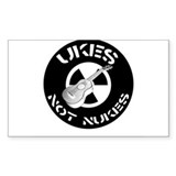 Ukes Not Nukes Decal