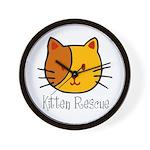 Kitten Rescue Wall Clock