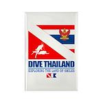 Dive Thailand Rectangle Magnet