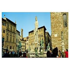 Neptune fountain, Piazza Della Signoria, Palazzo V