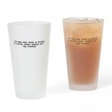 Ray Bradbury quote Drinking Glass