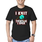 I Knit - Therefore I Rock Men's Fitted T-Shirt (da