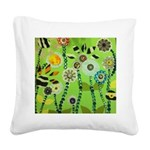 Funky Garden Square Canvas Pillow