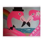 Flamingo Love Throw Blanket