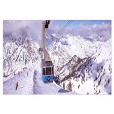 Overhead cable car in a ski resort, Snowbird Ski R