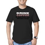 coffeedrink.png Men's Fitted T-Shirt (dark)