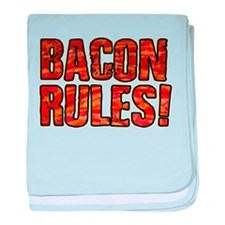 BACON RULES! T shirt baby blanket