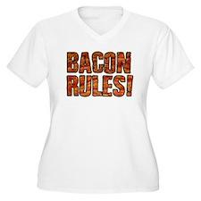 BACON RULES! T shirt Plus Size T-Shirt