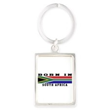 Born In South Africa Portrait Keychain