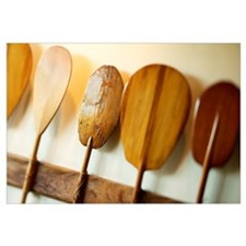 Hawaii, Oahu, Old Hawaiian Canoe Paddles