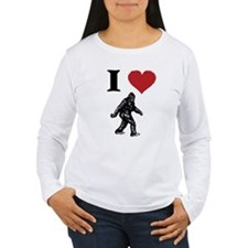 I LOVE SASQUATCH BIGFOOT T SHIRT Long Sleeve T-Shi