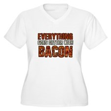 EVERYTHING GOES BETTER WITH BACON Plus Size T-Shir