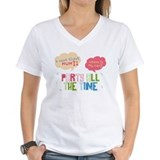 "Eli + AJ ""Party All The Time"" W V-Neck T"