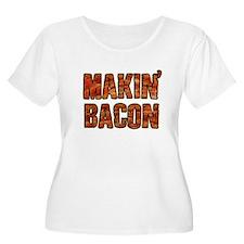 MAKIN BACON Plus Size T-Shirt