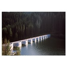 Dam on a lake, Linach Dam, Voehrenbach, Black Fore
