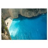 Aerial view of shipwreck bay, Zakynthos, Ionian Is