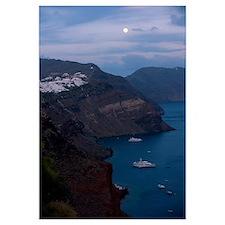 Boats in the sea, Oia, Santorini, Cyclades Islands
