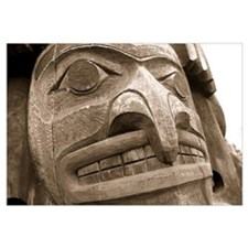 Close-up of a totem pole, Victoria, Vancouver Isla
