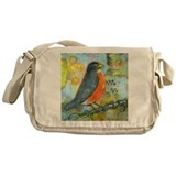 Red Robin Bird Messenger Bag
