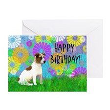 Cute Jack russel terriers Greeting Card