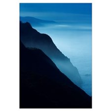 California, Big Sur Coast, Silhouetted Cliffs Alon