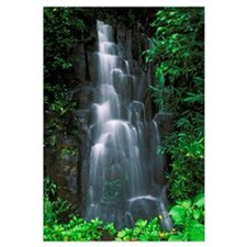 Hawaii, Maui, Hana Highway, Cascading Waterfall In