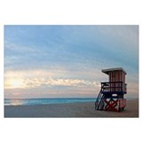 Lifeguard on the beach, Miami, Miami-Dade County,