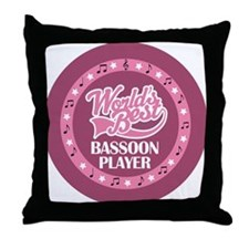Bassoon Player (Worlds Best) Throw Pillow