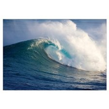 Hawaii, Maui, Large Wave Crashing At Jaws, Well Kn