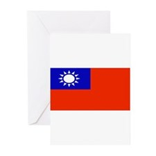 Taiwan Taiwanese Blank Flag Greeting Cards (Packag