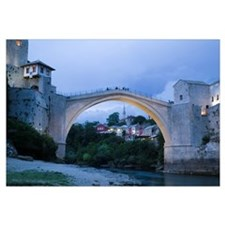 Old bridge over a river, Stari Most, River Neretva