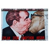 Painting of Honecker and Brezhnev on Berlin Wall,