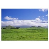 Hawaii, Big Island, Waimea, View Of Snowcapped Mau