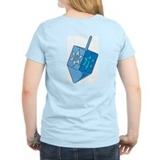 Blue Dreidel Women's Pink T-Shirt