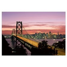 California, San Francisco, Sunset On Bay And Skyli
