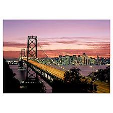 California, San Francisco, Sunset On Bay And Skyli