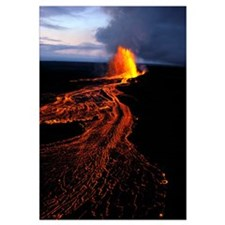 Hawaii, Big Island, Kilauea Volcano Eruption, Rive