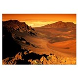 Hawaii, Maui, Golden Sunlight Over Haleakala Crate