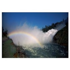 Rainbow over the river, Oroville Dam, Feather Rive