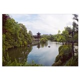 Reflection of clouds in a pond, Heian Shrine, Kyot