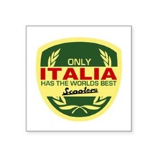 Italia Scooter Rectangle Sticker