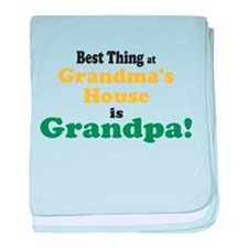 Best Thing Grandpa baby blanket