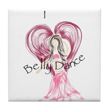 I Heart Belly Dance Tile Coaster