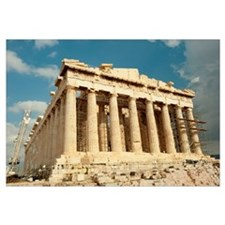 Ruins of columns, Acropolis, Parthenon, Athens, At