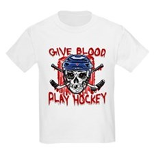 Give Blood Hockey Blue T-Shirt