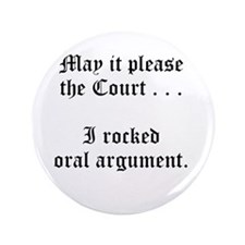 "rocked argument 3.5"" Button (100 pack)"