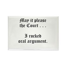rocked argument Rectangle Magnet (100 pack)
